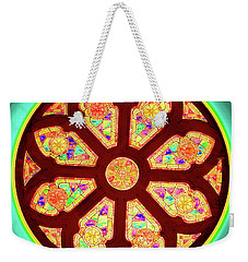 Glowing Rosette Weekender Tote Bag