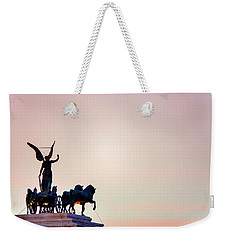 Weekender Tote Bag featuring the photograph Goddess Victoria At Sunset by Fabrizio Troiani