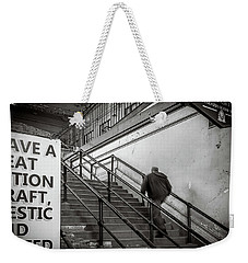 Weekender Tote Bag featuring the photograph Going Up by Steve Stanger