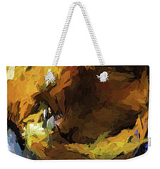 Gold Cat And The Shadow Weekender Tote Bag