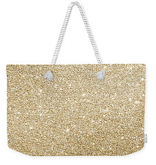 Weekender Tote Bag featuring the photograph Gold Glitter by Top Wallpapers