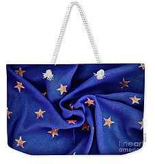 Weekender Tote Bag featuring the photograph Gold Stars Blue by Tim Gainey