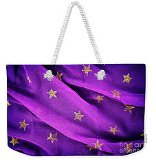 Weekender Tote Bag featuring the photograph Gold Stars Purple by Tim Gainey