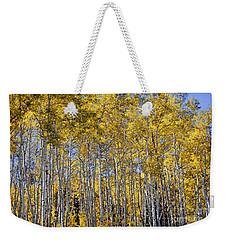 Golden Aspen Grove Weekender Tote Bag