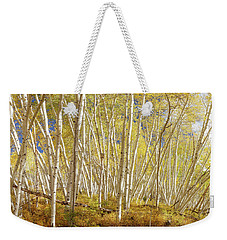 Weekender Tote Bag featuring the photograph Golden Forest Fantasy by James BO Insogna