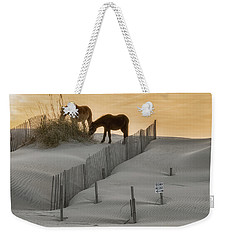 Golden Horses Weekender Tote Bag