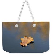 Golden Leaf On Water Weekender Tote Bag