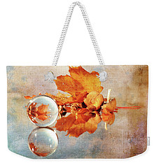 Weekender Tote Bag featuring the photograph Golden Tones Of Fall by Randi Grace Nilsberg