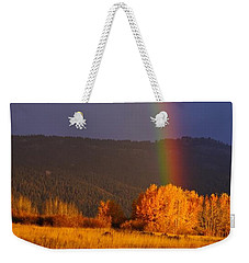 Golden Tree Rainbow Weekender Tote Bag