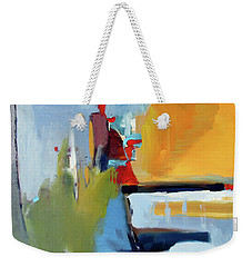 Weekender Tote Bag featuring the painting Golden Way by John Jr Gholson