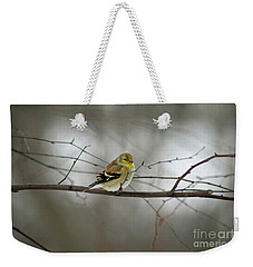 Goldfinch In Winter Looking At You Weekender Tote Bag