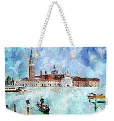 Gondola Rides And San Giorgio Di Maggiore In Venice Weekender Tote Bag
