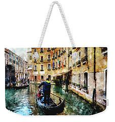 Gondola Traffic Near Piazza San Marco In Venice Weekender Tote Bag