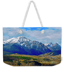 Weekender Tote Bag featuring the photograph Gore Mountain Range by Dan Miller