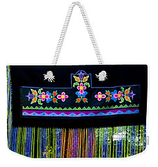 Weekender Tote Bag featuring the tapestry - textile Grand Mothers Garden by Chholing Taha