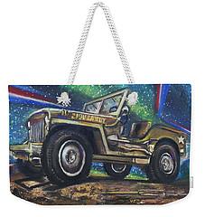 Grandpa Willie's Willys Jeep Weekender Tote Bag