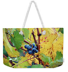 Weekender Tote Bag featuring the photograph Grapes In Tuscany by Mark Duehmig