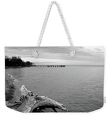 Gray Day On The Bay Weekender Tote Bag