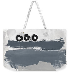 Weekender Tote Bag featuring the mixed media Grayscale 1- Abstract Art By Linda Woods by Linda Woods