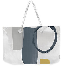 Weekender Tote Bag featuring the mixed media Grayscale 2- Abstract Art By Linda Woods by Linda Woods