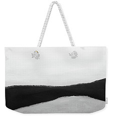 Weekender Tote Bag featuring the mixed media Grayscale 3- Abstract Art By Linda Woods by Linda Woods
