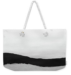 Weekender Tote Bag featuring the mixed media Grayscale 4- Abstract Art By Linda Woods by Linda Woods