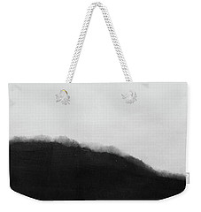 Weekender Tote Bag featuring the mixed media Grayscale 5- Abstract Art By Linda Woods by Linda Woods