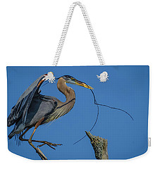 Weekender Tote Bag featuring the photograph Great Blue Heron 4034 by Donald Brown
