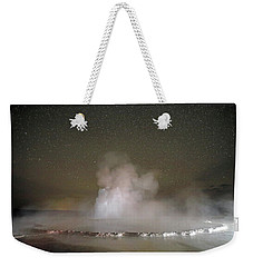 Great Fountain Geyser At Night Weekender Tote Bag