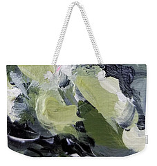 Weekender Tote Bag featuring the painting Green #1 by Maria Langgle