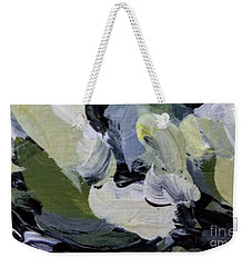 Weekender Tote Bag featuring the painting Green #2 by Maria Langgle