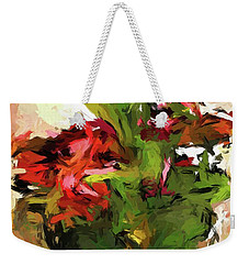 Green Leaves And The Red Flower Weekender Tote Bag