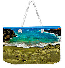 Green Sand Beach Weekender Tote Bag