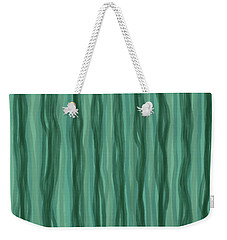 Green Stripes Weekender Tote Bag
