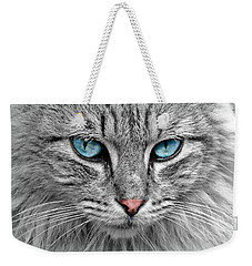 Grey Cat With Blue Eyes Weekender Tote Bag