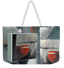 Weekender Tote Bag featuring the painting Reflections by Val Byrne