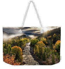 Gros Ventre River Light Weekender Tote Bag