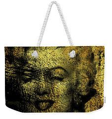 Grunge Marilyn Monroe In Gold 48x48 Huge Pop Art  Weekender Tote Bag