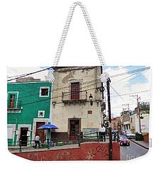 Weekender Tote Bag featuring the photograph Guanajuato Street Corner by Rosanne Licciardi