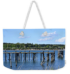 Guemes Island And Old Pier Weekender Tote Bag
