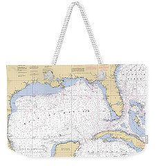 Gulf Of Mexico, Noaa Chart 411 Weekender Tote Bag