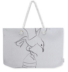 Gull On Pier Weekender Tote Bag