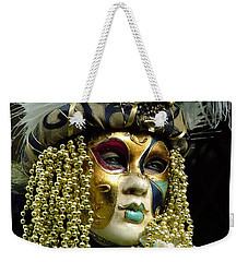 Weekender Tote Bag featuring the photograph Hair Of Gold Beads by Donna Corless