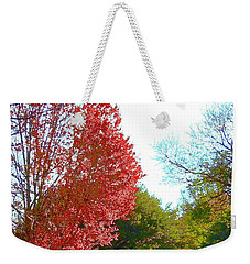Weekender Tote Bag featuring the photograph Half Full... by Don Moore