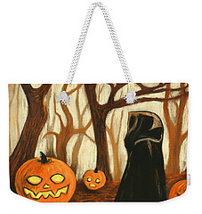 Weekender Tote Bag featuring the painting Halloween Forest by Anastasiya Malakhova