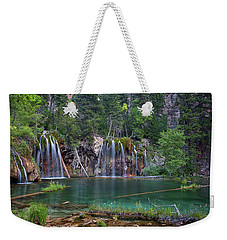 Weekender Tote Bag featuring the photograph Hanging Lake Colorado by Nathan Bush
