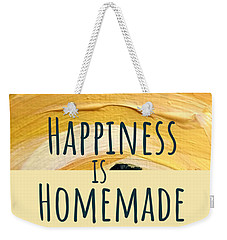 Weekender Tote Bag featuring the painting Happiness Is Homemade #2 by Maria Langgle
