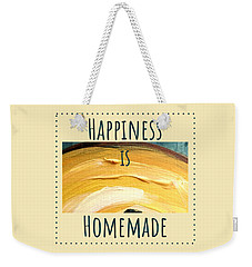 Weekender Tote Bag featuring the painting Happiness Is Homemade #3 by Maria Langgle