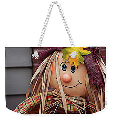 Weekender Tote Bag featuring the photograph Happy Thanksgiving Doll by Tatiana Travelways