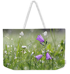 Harebells And Water Drops Weekender Tote Bag
